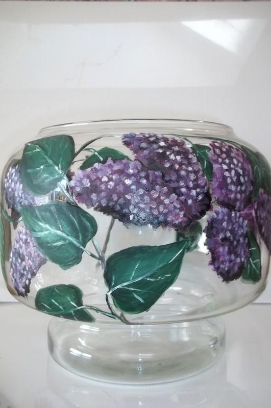 un pot en verre decore de lilas With marvelous commentaire peindre une porte avec 2 couleurs 10 un pot en verre decore de lilas