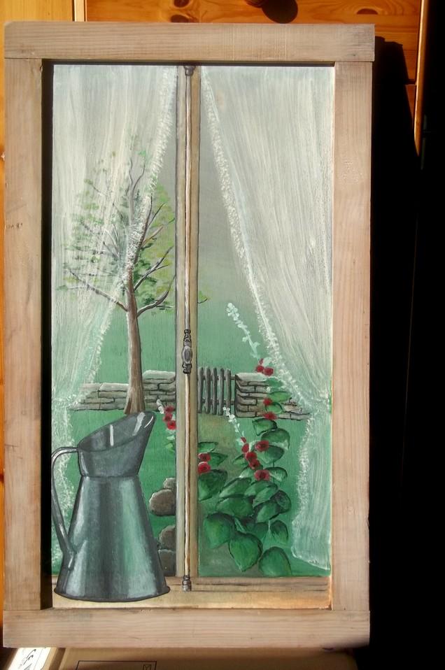 Voil un nouveau tableau fen tre en route - Decaper volets bois avant peinture ...